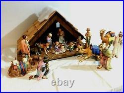 17 pc. Hummel Goebel Christmas Nativity Set + Original Stable