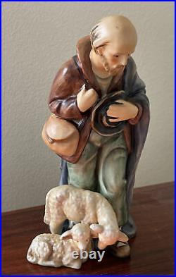 1951 Vintage Goebel Hummel 214/F TMK5 Shepherd Standing Nativity 7 Figurine