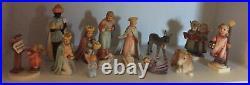 1951 Vintage Goebel Hummel Nativity Set 11 With 3 Additional Christmas Themed
