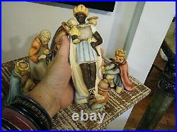 1960s Hummel Goebel 214 Nativity Set 9 Large Figures W Germany TMK3 & 4
