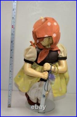 1990 MJ Hummel Goebel Germany Porcelain & Soft Body GOOSE GIRL 14h Doll RARE