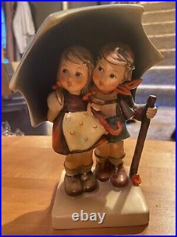 6 Hummel #71 STORMY WEATHER TMK 3 Boy & Girl Under Umbrella