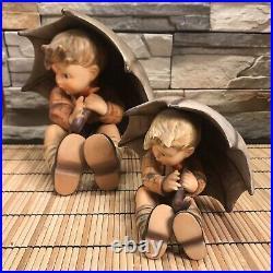 BEAUTIFUL AND RARE 8 And 5 SET GOEBEL HUMMEL UMBRELLA BOY And GIRL 4 Pcs