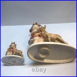 Beautiful And Rare Hummel Goebel Friends Set 136/1 TMK-5 And 136/V TMK-3