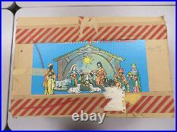 Beautiful Vintage Goebel Hummel 14 Piece Nativity Set and Stable West Germany