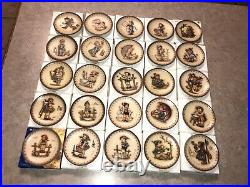 Complete Set of 25 Hummel Annual Collection Miniature Plates Goebel of Germany