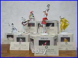 Full Set Six Goebel Hummel Archive Collection Masquerade Figurines LE MIB COA