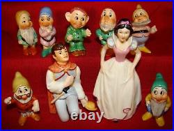 GOEBEL HUMMEL SNOW WHITE AND THE SEVEN DWARFS WITH PRINCE SET Made 1979-1990