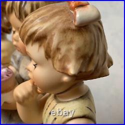 Goebel Germany Hummel Figurine WE WISH YOU THE BEST 8 1/8 Damaged