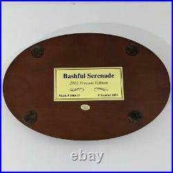 Goebel Hummel 2133 BASHFUL SERENADE Hummelscapes-2002 Preview Edition 1st Issue