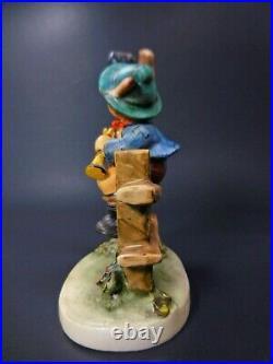 Goebel Hummel #342 Mischief Maker Three Line TMK-4 Boy With Crow Figurine 5