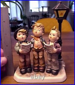 Goebel Hummel A Tuneful Trio 757 Limited Edition 708 of 20,000 Wood Base MINT
