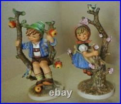 Goebel Hummel Apple Tree Boy 142V & Apple Tree Girl 141V Made in W Germany 1968