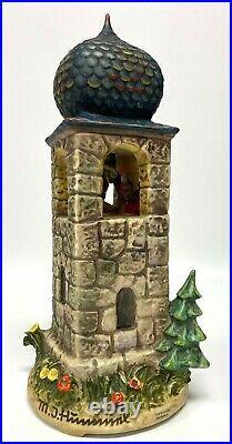 Goebel Hummel CALL TO WORSHIP #441 Clock Tower FIGURINE 13 Working withBox COA
