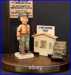 Goebel Hummel CHECKPOINT CHARLIE 02141 of Limited Edition SOLDIER BOY, Wood Base