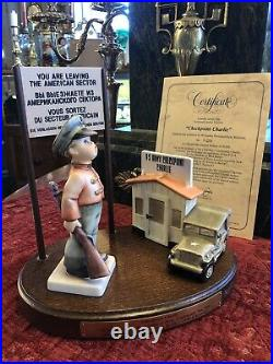 Goebel Hummel Checkpoint Charlie Century Collection 1990 with Box & Certificate