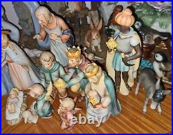 Goebel Hummel Christmas NATIVITY Set 214 Angels & 3 Kings, Camel 16 pieces