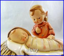 Goebel Hummel Figurine TMK1 #25 Angelic Sleep Candle Holder Crown Hallmark E1A2