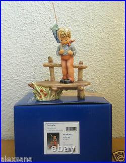 Goebel Hummel Figurine The Angler Hum #566 Tmk7 Boy Fishing Germany Nib I469