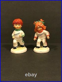 Goebel Hummel Jogger Redhead Boy & Girl Porcelain Figurines Signed Charlot BYJ