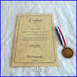 Goebel Hummel Land in Sight # 530 Limited TMK7 Box COA Medallion, Excellent