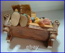 Goebel Hummel MOMENTS IN TIME STORY TIME #2261 Girl Book Boy Sofa Cat REPAIR