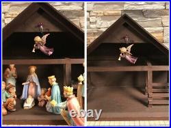 Goebel Hummel Nativity 18 Piece Set plus Manger/Crèche & Lighted Dept 56 Tree