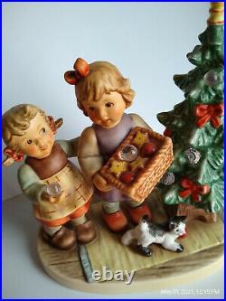 Goebel Hummel SHINE SO BRIGHT 2328 TMK9 Christmas Tree Swarovski Crystal LE MINT