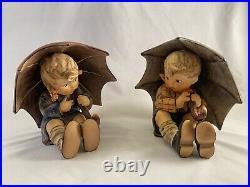 Goebel Hummel Umbrella Boy And Girl Figurines 152/A&B 5