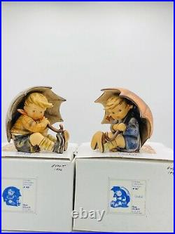 Goebel Hummel Umbrella Boy And Umbrella Girl 5 152/0 A & B With Boxes PERFECT