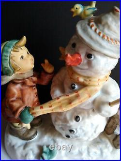 Goebel Hummel WINTER FRIEND 2283/II BOY SNOWMAN TMK8 1st Issue MINT 6.75