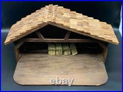 HUGE Goebel Hummel #214 Nativity Set Wood Creche Germany Christmas