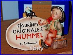 HUMMEL 208 FRENCH DEALER PLAQUE TRADEMARK 2 VERY RARE Goebel