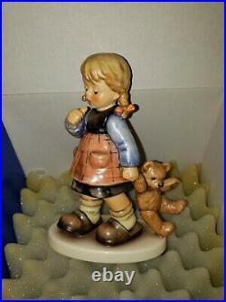 HUMMEL 2164 ME AND MY SHADOW with STEIFF TEDDY BEAR. NEW, MINT