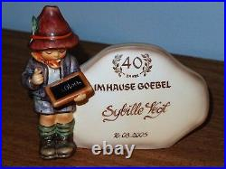 HUMMEL 460 187 PLAQUES SPECIAL EMPLOYEE SERVICE AWARD RARE 40 & 25 YEARS Goebel