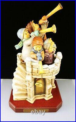 Huge 1999 Goebel Hummel FANFARE Signed Final Edition Children Horns