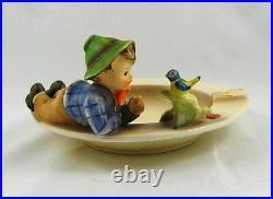 Hummel # 166 TMK 3 Boy with Blue Bird Figurine on Ashtray
