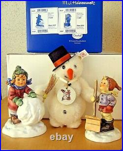 Hummel FROSTY FRIENDS COLLECTOR'S SET 2035 & 2036 Goebel SNOWMAN MIB U077