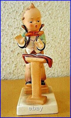 Hummel Figurine BAND LEADER HUM #129 TMK2 FULL BEE Goebel Germany MINT S506