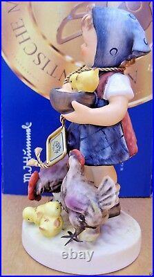 Hummel Figurine FEEDING TIME HUM 199/I TM8 Goebel Germany 50TH ANNI 199/I NIB