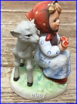 Hummel Figurine Goat Lamb Girl Good Friends West Germany TMK 6 Goebel 182 Sweet