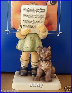 Hummel Figurine HARMONY AND LYRIC HUM #911 TM8 Goebel Germany TERRIER LOVE NIB