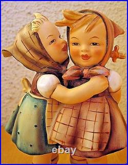 Hummel Figurine TELLING HER SECRET HUM #196 TM2 FULL BEE Goebel $1000 K967