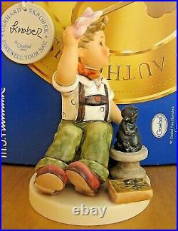 Hummel Figurine THE FINAL SCULPT HUM 2180 TMK8 Goebel SIGNED SKROBEK MIB L807