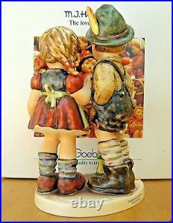 Hummel Figurine TIMID LITTLE SISTER HUM 394 TMK7 Goebel SIGNED 3x MIB M502