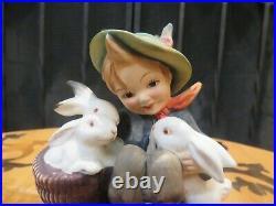Hummel Goebel Playmates 58/0 TMK-1 Incised Crown US Zone Germany Figurine