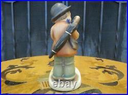 Hummel Goebel Puppy Love Little Violinist 1 TMK-1 Incised Double Crown Figurine