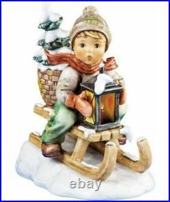 Hummel Goebel Ride Into Christmas #396/III Jumbo Size Boy on Sled