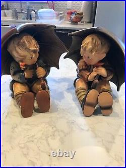 Hummel Goebel Umbrella Boy and Girl Pair 152/A &152/B 8
