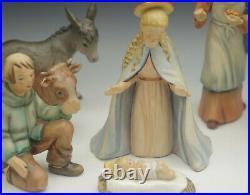 Hummel Goebel W. Germany Nativity 8 Piece Set 8 Holy Family Animals